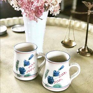 Handcrafted studio pottery mugs